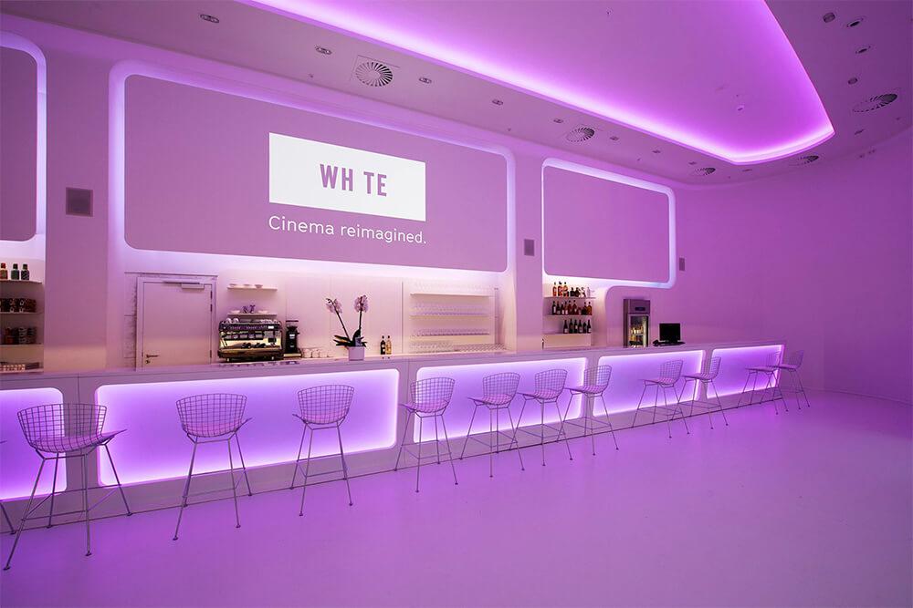 Cinema white led strips