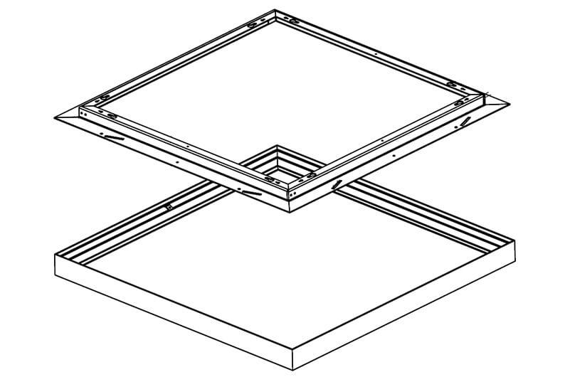 Integratech flair kader led paneel