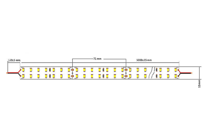 Integratech 64HLED Led strip dimensions