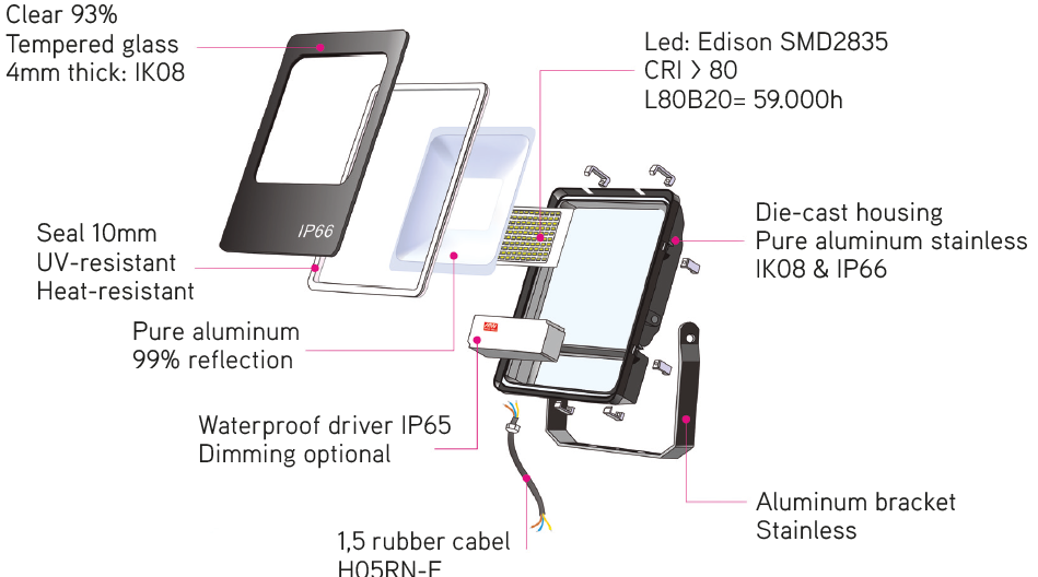 LED floddlight Evolve SMD