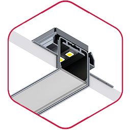 Integratech spl35 aluminium led strip profiel