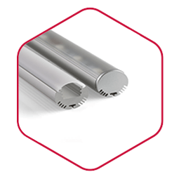 Integratech alu round aluminium led strip profiel