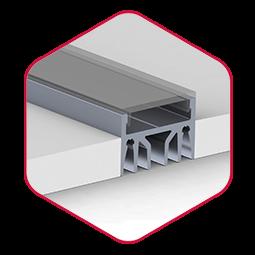 Integratech epoxy led strip aluminium profiel