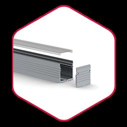 Integratech powerline aluminium led strip profiel