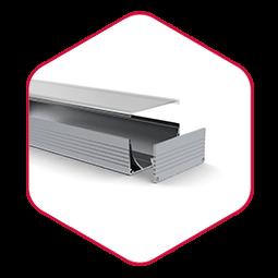 Integratech wide aluminium led strip profiel