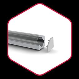 Integratech alu45 hoekprofiel aluminium