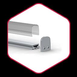 Integratech alu squere led strip aluminium profiel