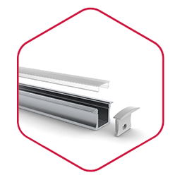Integratech slimline aluminium led strip profiel