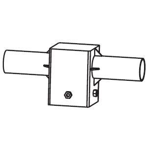 Streetlight adapter S105/R2x60mm zwart RAL9005
