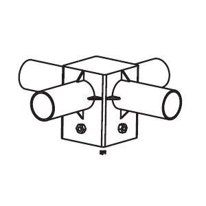 Streetlight adapter S105/4x60mm dlichtgr RAL9022